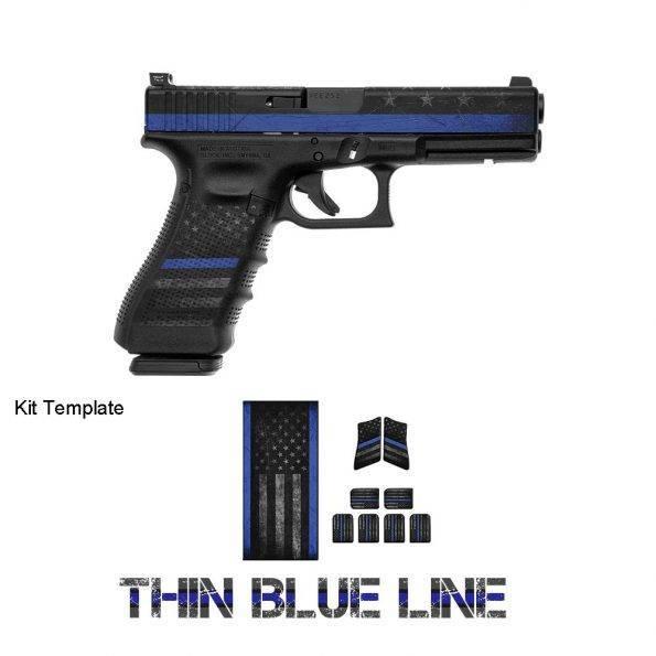 pistol-accent-skin-glock-thin-blue-line