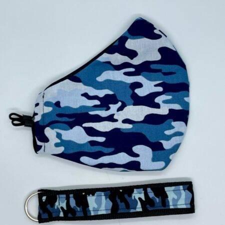 Pralna maska camo blue